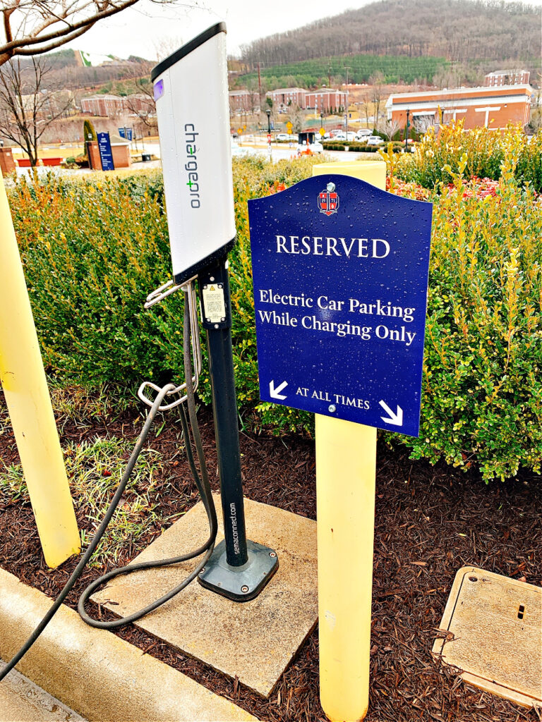BMW PHEV charging at Liberty University