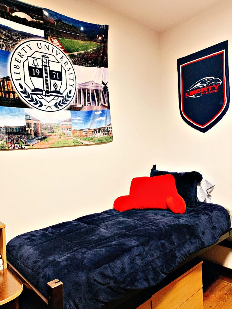 Liberty University dorm room
