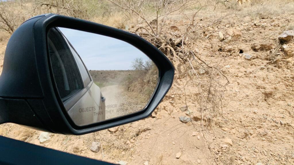 Hyundai Tucson rear-view mirror