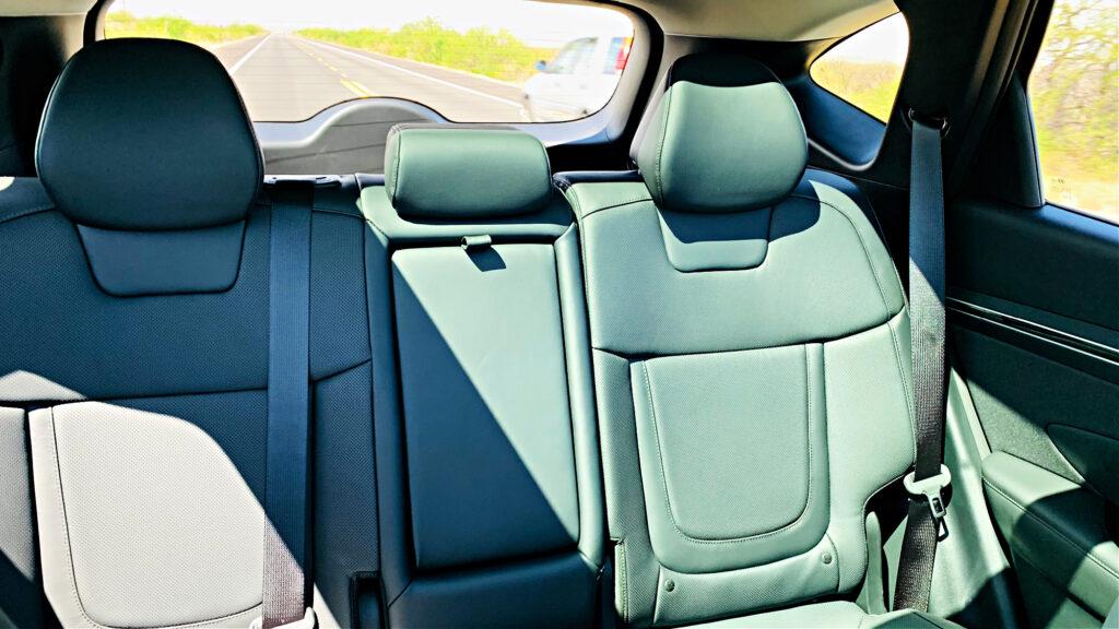 2022 Hyundai Tucson back seat area