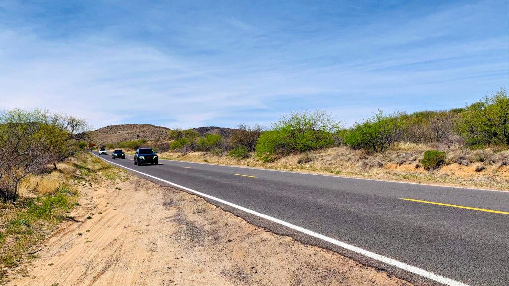 cruising in the Hyundai Tucson