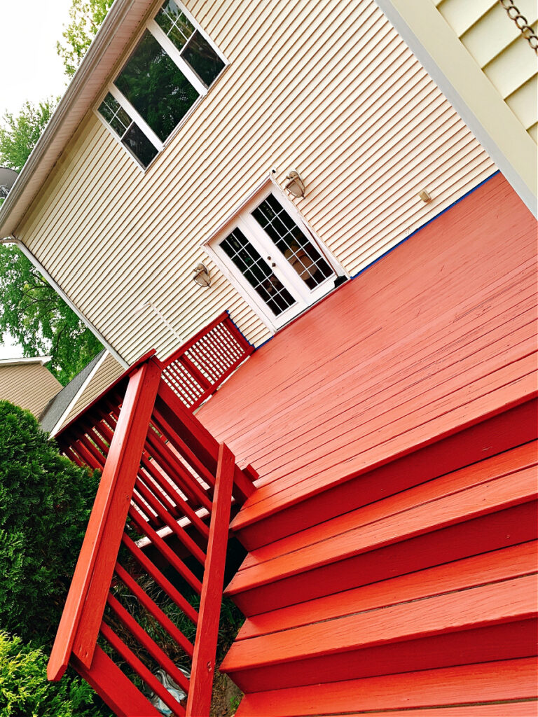 painting the deck