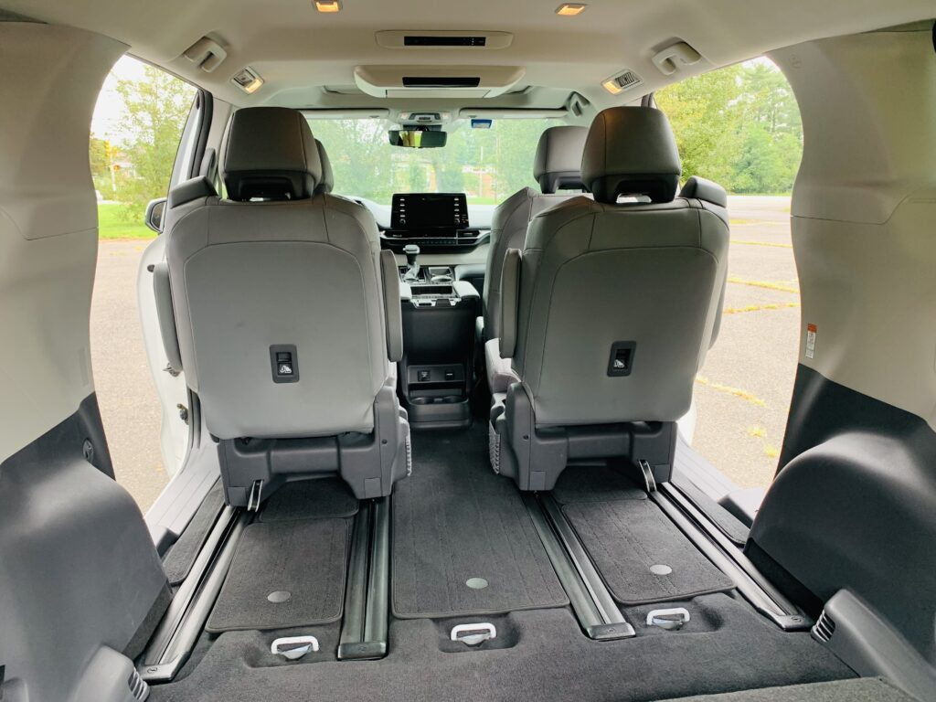 space in the toyota sienna