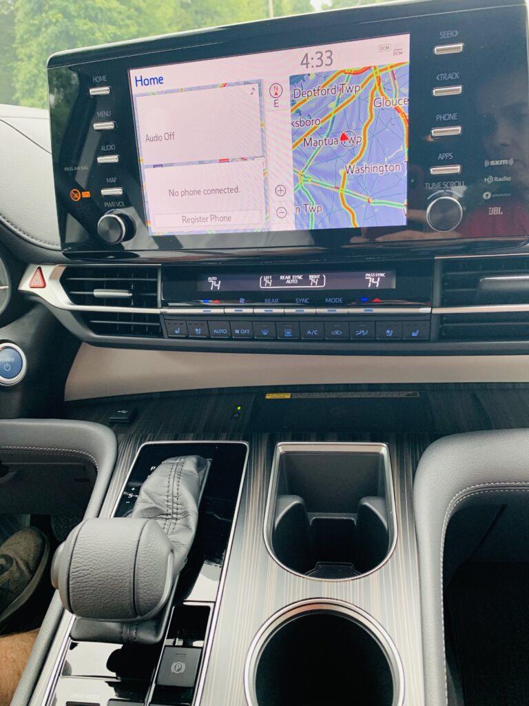 info center in 2021 Toyota Sienna Hybrid AWD
